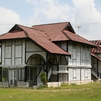 Traditional bamboo panelled house