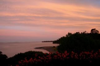 Sunset over Manukau harbour