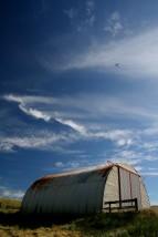 Barn and plane