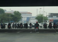 Motorcyclists at a KL intersection