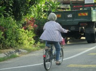 Intrepid Ipoh cyclist