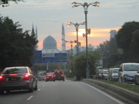 View of the Blue Mosque, Shah Alam