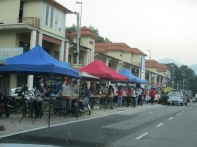 Street stalls - causes a lot of double parking!