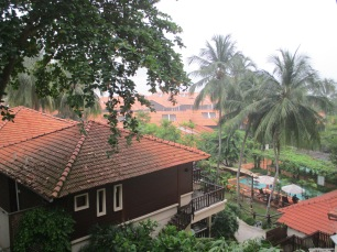 View of the resort. Pity about the haze