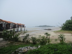 View of the Strait. Would be better without haze!
