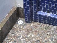 Lovely stone floor in the shower