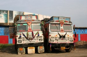 Decorated ancient buses