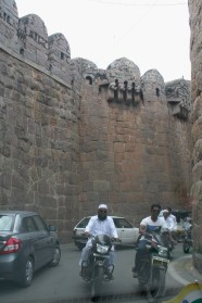 Entering the Golconda Fort