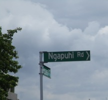 The street names