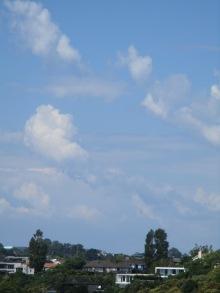 Clear blue skies