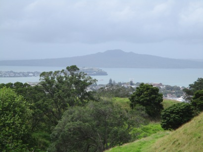 Cloudy view of Rangitoto