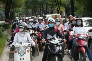 Motorcycles in Saigon